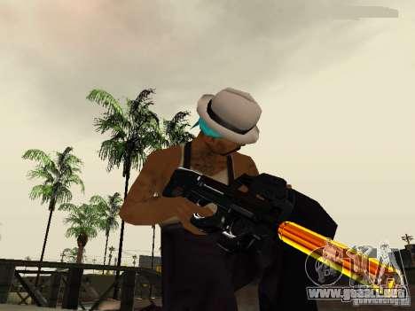 Black and Yellow weapons para GTA San Andreas quinta pantalla