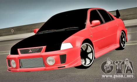 Mitsubishi Lancer Evolution 6 para la visión correcta GTA San Andreas