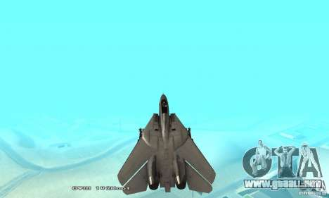 F14W Super Weirdest Tomcat Skin 1 para GTA San Andreas interior