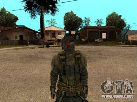 El ingeniero del ejército de piel para GTA San Andreas tercera pantalla