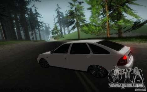 VAZ-2172 v2 para la visión correcta GTA San Andreas