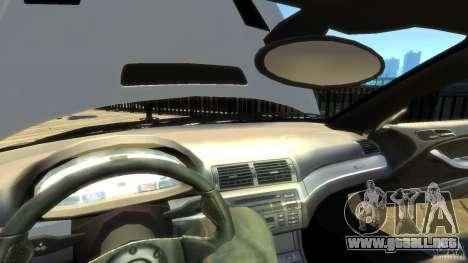 BMW E46 M3 GTR Sport para GTA 4 vista desde abajo