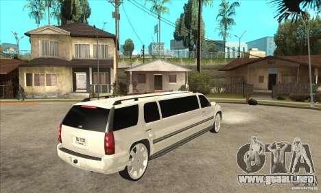GMC Yukon 2008 para la visión correcta GTA San Andreas