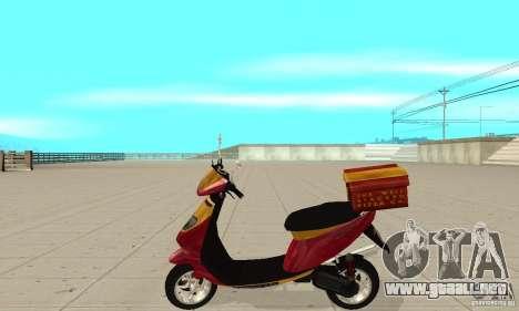 GTAIV Pizzaboy para GTA San Andreas left