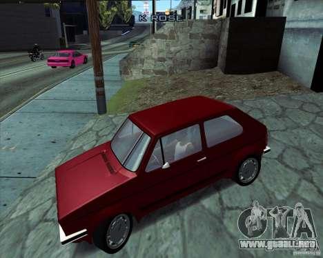 Volkswagen Golf MK 1 GTI para GTA San Andreas left