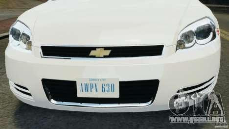 Chevrolet Impala 2012 LCPD para GTA 4 vista interior