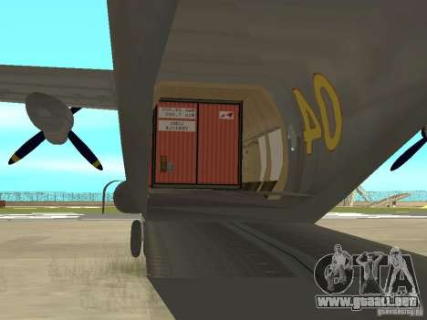 Antonov An-12 para la visión correcta GTA San Andreas