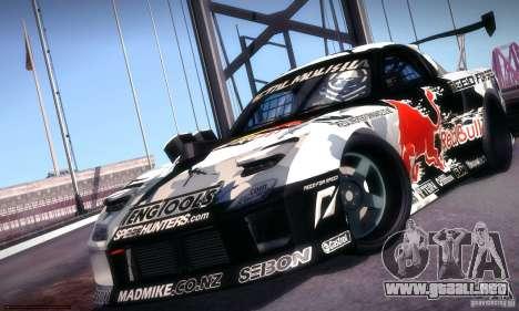 Mazda RX-7 Mad Mike para GTA San Andreas vista posterior izquierda