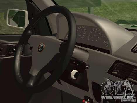 Alfa Romeo 155 1992 para vista lateral GTA San Andreas