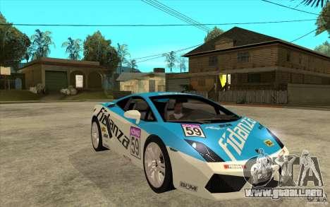 Lamborghini Gallardo LP560 para GTA San Andreas vista hacia atrás
