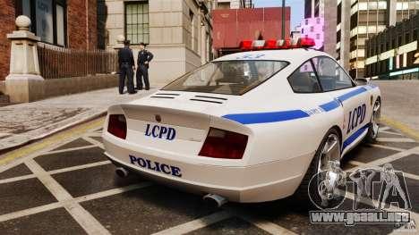 Comet Police para GTA 4 Vista posterior izquierda