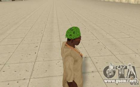 Pañuelo verde maryshuana para GTA San Andreas segunda pantalla
