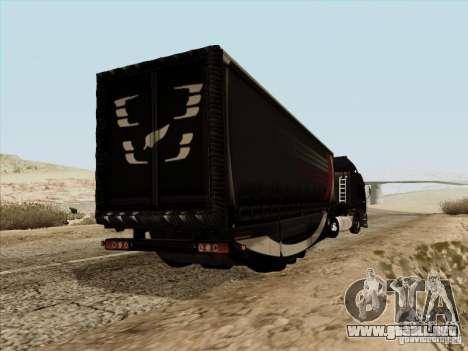 Aero Dynamic Trailer para GTA San Andreas vista posterior izquierda