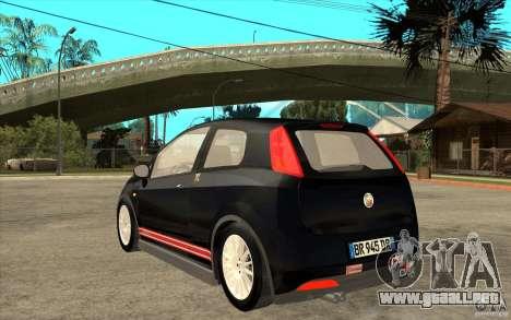Fiat Grande Punto 3.0 Abarth para GTA San Andreas vista posterior izquierda