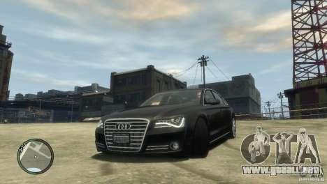 Audi A8 V8 FSI para GTA 4