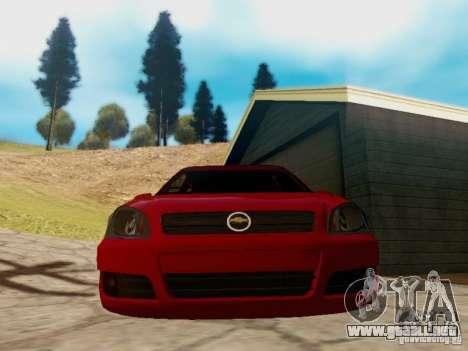 Chevrolet Celta 1.0 VHC para GTA San Andreas vista posterior izquierda