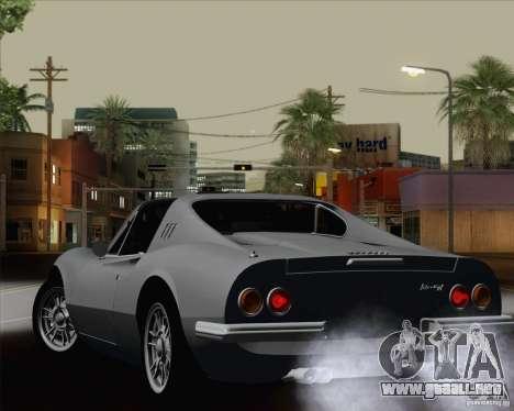 Ferrari 246 Dino GTS para la vista superior GTA San Andreas