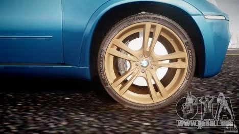 BMW X5 M-Power wheels V-spoke para GTA 4 vista desde abajo