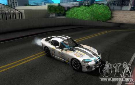 Dodge Viper GTS Coupe TT Black Revel para GTA San Andreas interior