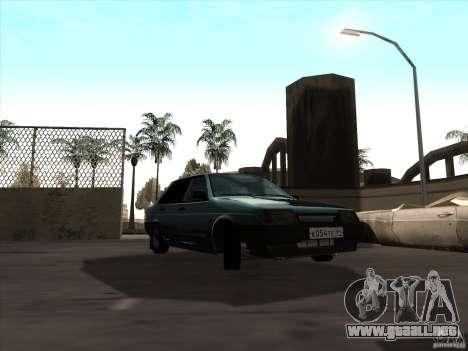 Vaz 21099 drenaje para la visión correcta GTA San Andreas