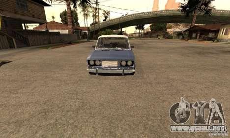 2106 VAZ viejo v2.0 para visión interna GTA San Andreas