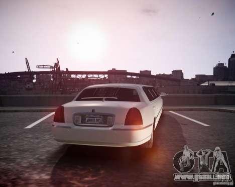 Lincoln Town Car Limousine para GTA 4 left