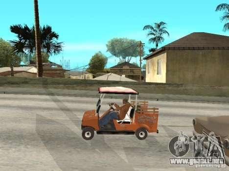 Golfcart caddy para la visión correcta GTA San Andreas
