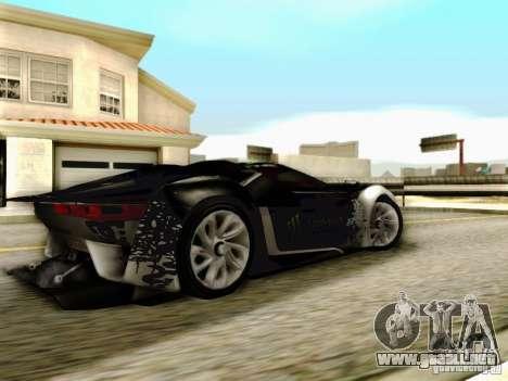 Citroen GT Gymkhana para GTA San Andreas vista posterior izquierda