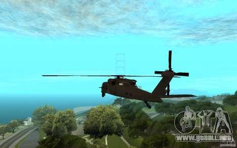 MH-60L Blackhawk para GTA San Andreas left
