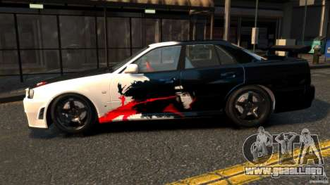 Nissan Skyline ER34 Nismo Z Tune para GTA 4 left