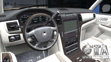 Cadillac Escalade [Beta] para GTA 4 visión correcta