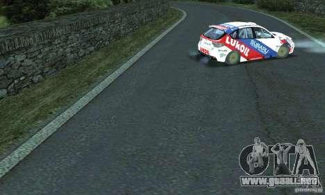La ruta del rally para GTA San Andreas quinta pantalla