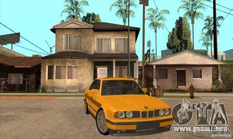 BMW E34 535i Taxi para GTA San Andreas vista hacia atrás