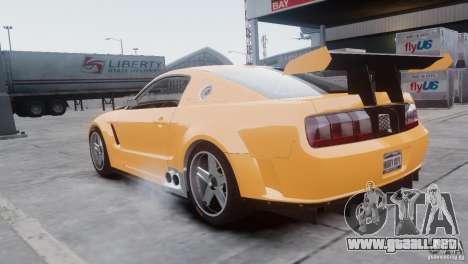 Ford Mustang GT-R para GTA 4 Vista posterior izquierda