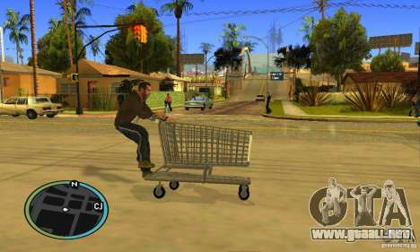 Shopping Cart Faggio V2 para visión interna GTA San Andreas