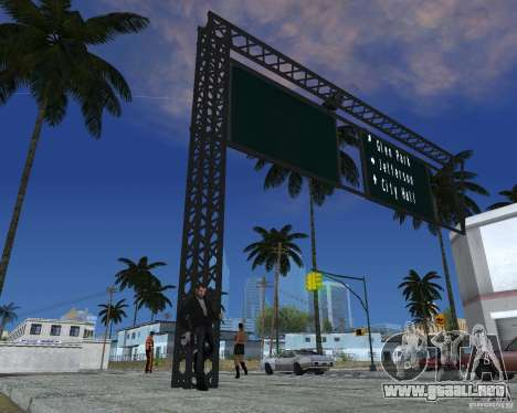 Carretera signos v1.0 para GTA San Andreas tercera pantalla