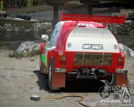 Mitsubishi Pajero Proto Dakar EK86 vinilo 2 para GTA 4 visión correcta