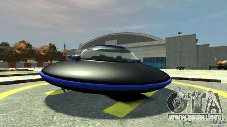 UFO neon ufo blue para GTA 4 Vista posterior izquierda