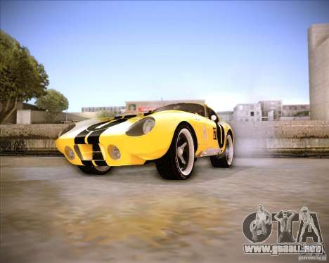 Shelby Cobra Daytona Coupe 1965 para la visión correcta GTA San Andreas