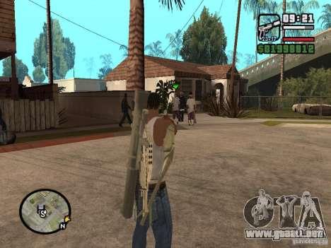 La vista estándar para GTA San Andreas segunda pantalla