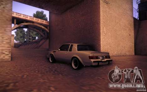 Buick Regal GNX para GTA San Andreas left