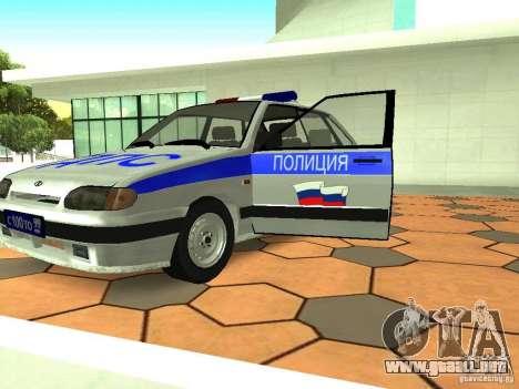 ВАЗ 2114 policía para visión interna GTA San Andreas