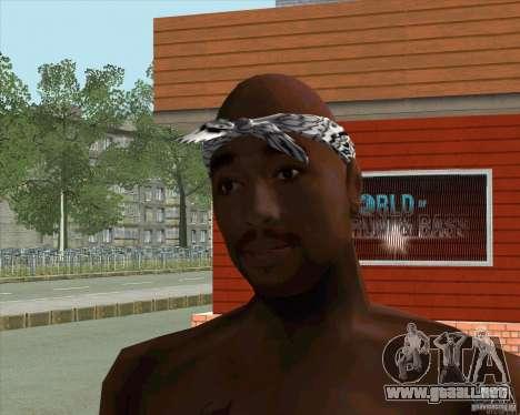 2Pac para GTA San Andreas segunda pantalla