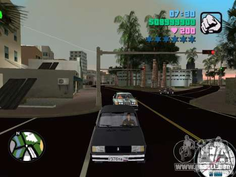Vaz 2105 para GTA Vice City left