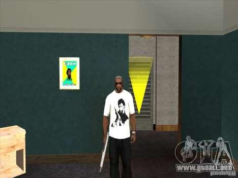 Camiseta de Chuck Norris para GTA San Andreas
