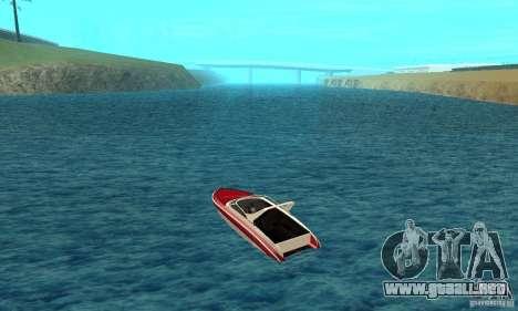 GTAIV Tropic para GTA San Andreas vista posterior izquierda