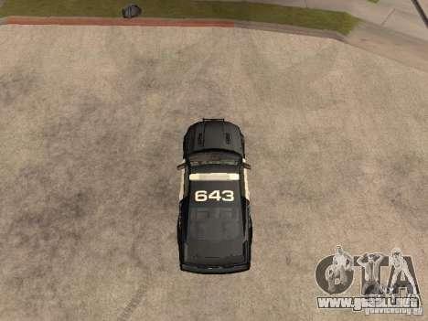 Saleen S281 2007 Barricade para la visión correcta GTA San Andreas