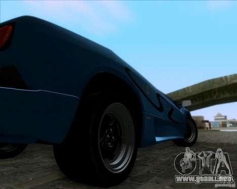 Lamborghini Diablo SV V1.0 para GTA San Andreas vista posterior izquierda