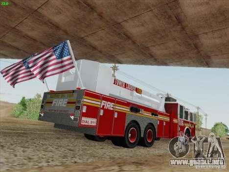 Seagrave Marauder. F.D.N.Y. Tower Ladder 186 para GTA San Andreas left