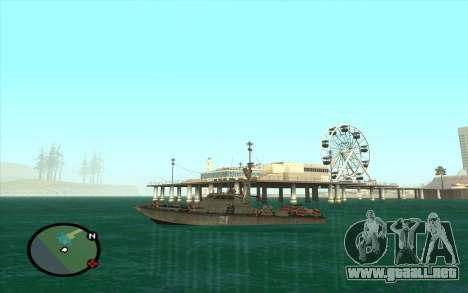 Barco militar de CODMW3 para la visión correcta GTA San Andreas